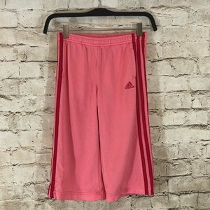 NWOT Adidas girls pink red striped size small